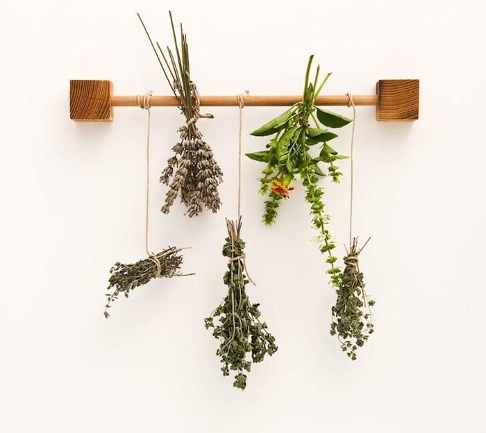 #Anthropologie #Pin to win A Clever Kitchen Herb Rack from Austria: Remodelista