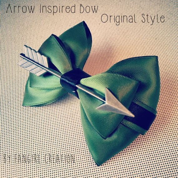 Arrow Inspired Bow by FangirlCreation on Etsy