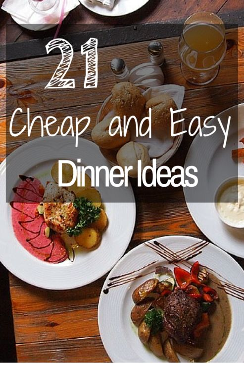 I love finding dinner ideas that are cheap and healthy.  I love that these are quick and easy to make.  #5 is my favorite! http://frametofreedom.com/21-cheap-easy-dinner-ideas/
