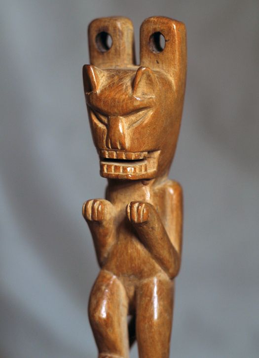 Title: Cat Slingshot #8959 Description: From Guatemala, Guatemala. Materials: Ceresal wood. Dimensions: 6 1/2″ tall Price: $150.00 including shipping