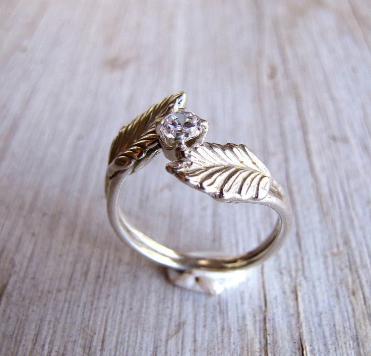 Sterling Silver Feather Ring Cheerful Solitaire By