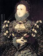Portrait of Elizabeth I, Queen of England 1575-76  by Nicholas Hilliard