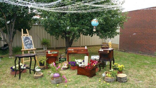 #Rustic #DIY #Söz #Engagement #Decoration #florals