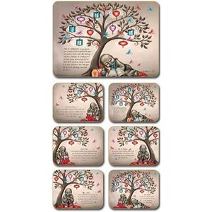 Lisa Pollock Tree of Dreams placemats and coasters, set of 6