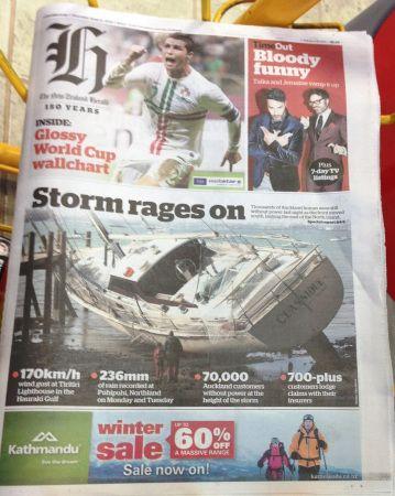 NZ Herald - Tormenta 2014 junio
