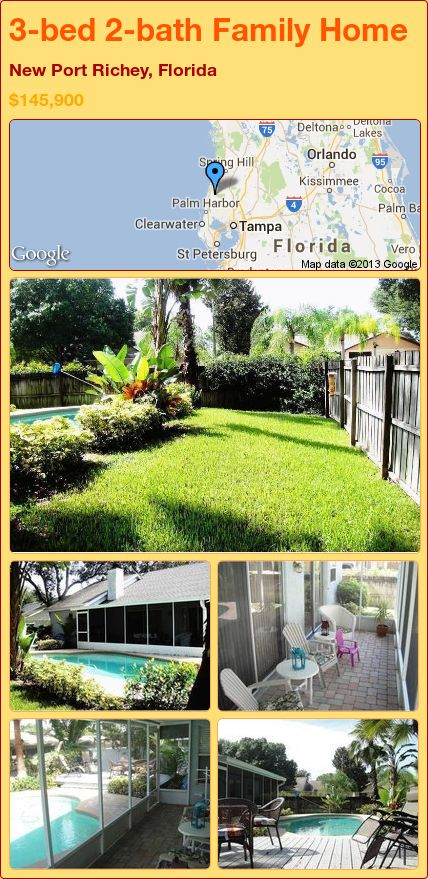 3 Bed 2 Bath Family Home In New Port Richey Florida