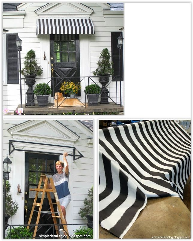 Diy Cloth Awning Tutorial A Simple Welded Frame Some Outdoor Fabric To Create An Awning For Her Front Door Diy Awning Outdoor Awnings Awning Over Door