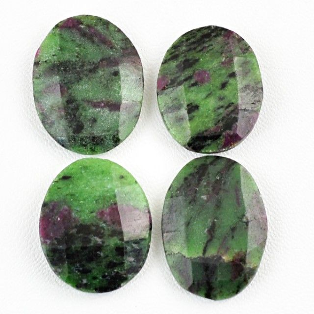 Genuine 121.00 Cts Oval Shaped Ruby zoisite Gemstones Lot  ZOISITE PARCEL GEMSTONE FROM GEMROCKAUCTIONS.COM