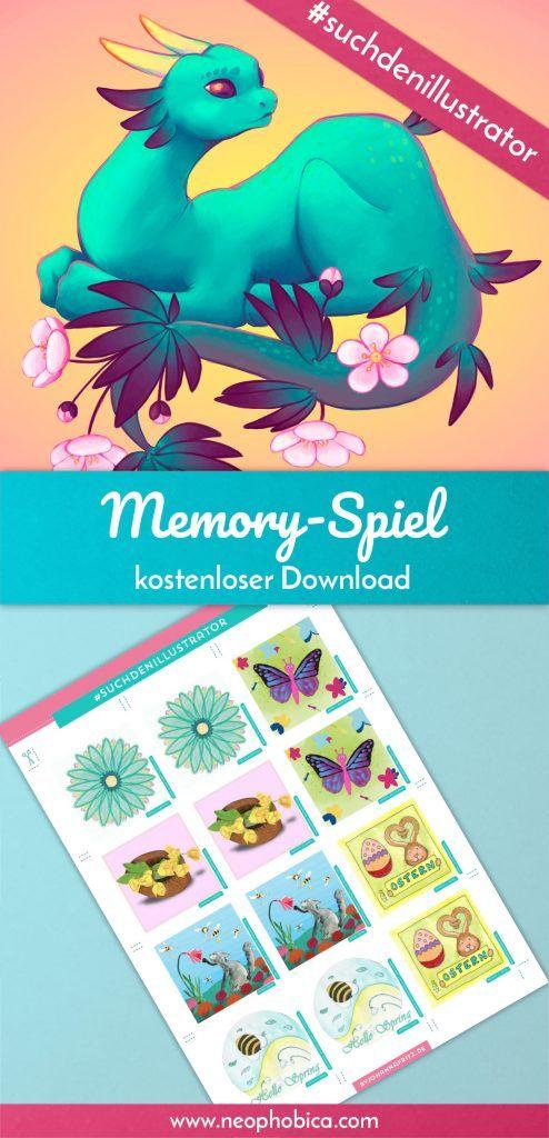 Dieses Memory-Spiel ist, unter der Leitung von Johanna Fritz, als Kollaboration von über 100 Illustratoren entstanden. Zum Ausdrucken und Spielen! Kostenloser Download, Printable, Freebie, DIY, Spiel, Memory,