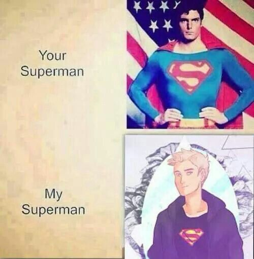 Yeah, your superman can fly mine can use lightning AND fly plus mines a hero of Olympus too so you know point demigod!