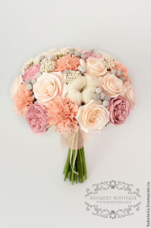Свадебный букет невесты - букет невесты,букет из глины,букет из полимерной глины