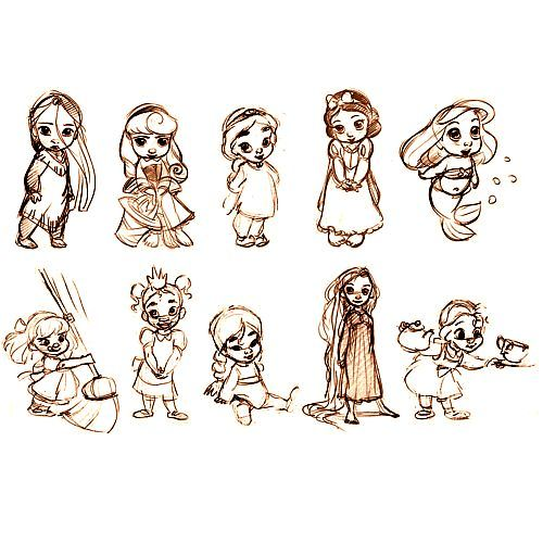 Disney Princess Animator's Collection Concept Art - I have the Pocahontas doll!