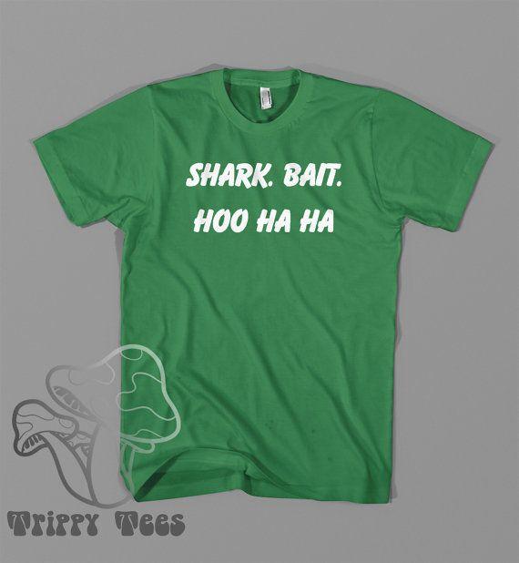 Finding nemo Shark bait hoo ha ha custom t shirt Design Movie Quote Funny Disney Shirt Tee Shirt Mens T-Shirt Ladies Women