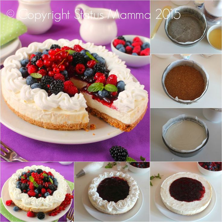 Cheesecake di frutta fresca ricotta e yogurt ricetta iitaliana cucinare dolce torta fredda gelato decorazioni Statusmamma Gialloblogs Giallozafferano dolce colazione merenda dessert domenica leggero facile