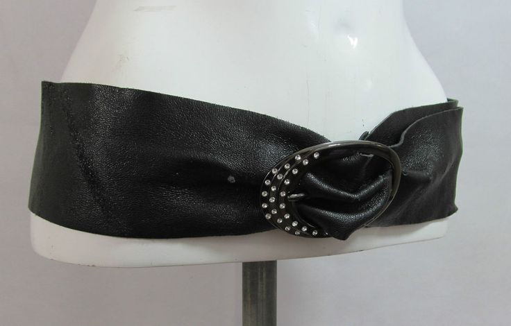 Next black wide soft leather belt fashion belt diamante buckle XL/XXL R15334 #style #fashion #love #woman #chic #eBay #BELT #sangriasuzie