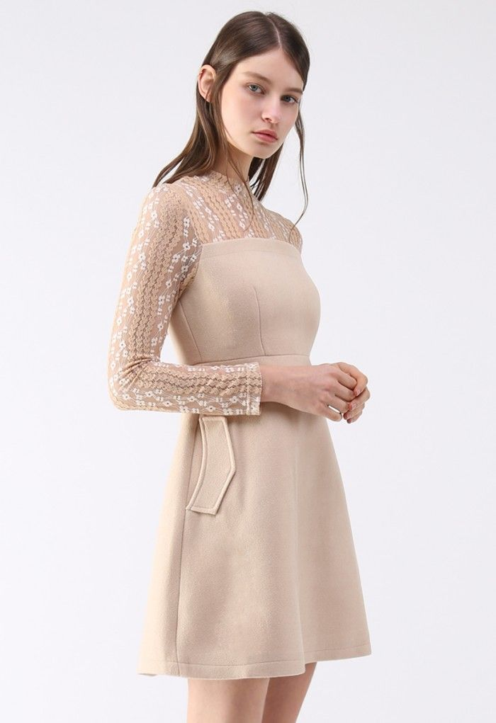 For you gals out there looking that retro #fashion look combined with today's stylish look then check out this @chic_wish Match Lace Wood Blend #dress