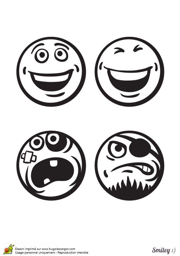 Les 12 meilleures images du tableau coloriages smiley sur pinterest smileys dessins et - Image de smiley a imprimer ...
