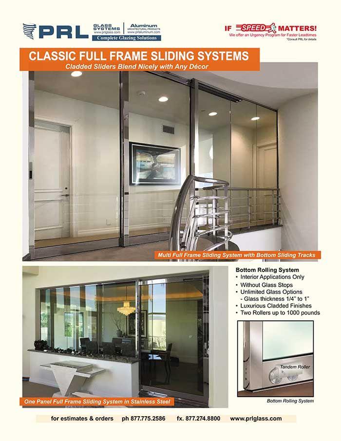 Make Your Interior Sliders Count Count On Prl S Classic Full Framed Sliding Doors Sliding Doors Glass Entrance Doors Sliding Tracks