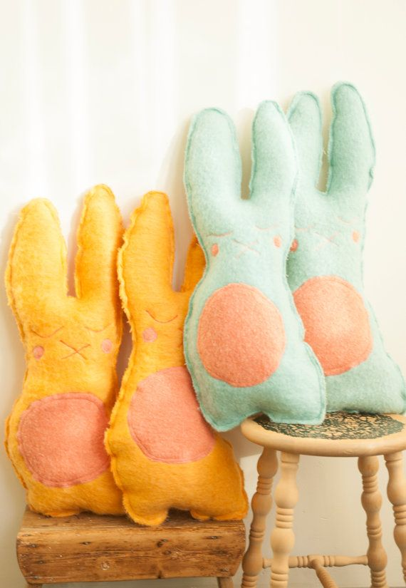 Warm cozy Joes ~ Wooly Bunny - Cuddly animal made with vintage wool blankets…