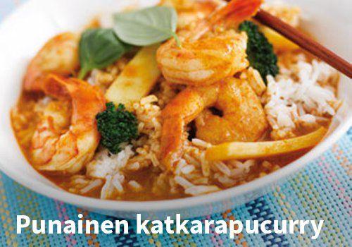 Punainen katkarapucurry Resepti: Finefoods.fi #kauppahalli24 #ruoka #resepti #katkarapucurry