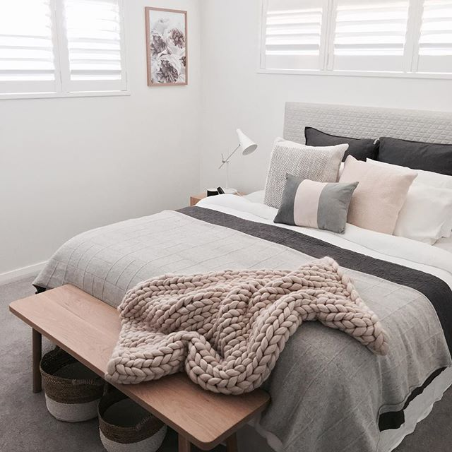 We just added this gorgeous timber bench seat from @chriscolwelldesign to my clients bedroom today and it's stunning!! We have so much local talent and I love supporting them. Made to order in Sydney...gotta love that!