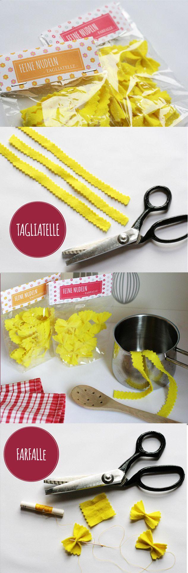 Basteln mit Nudeln – Pasta für Küche und Kaufladen selber machen