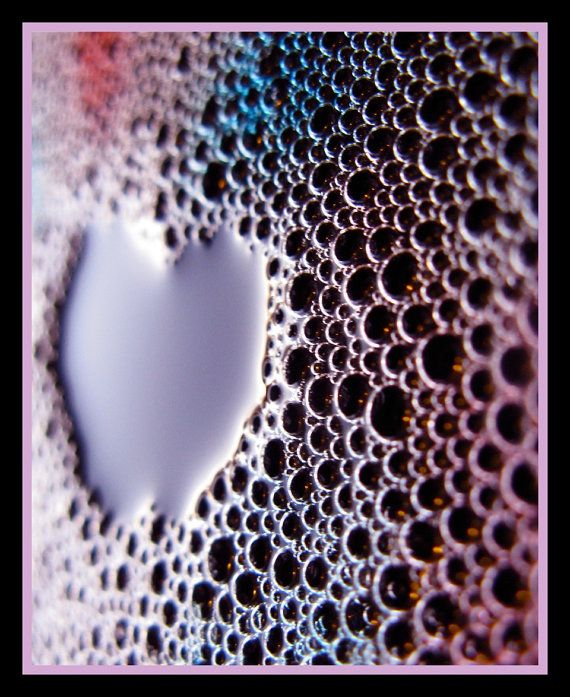 Perfect for Valentine's Day -  Pretty Heart in Bubbles    5 x 7 by KaEPhotography on Etsy