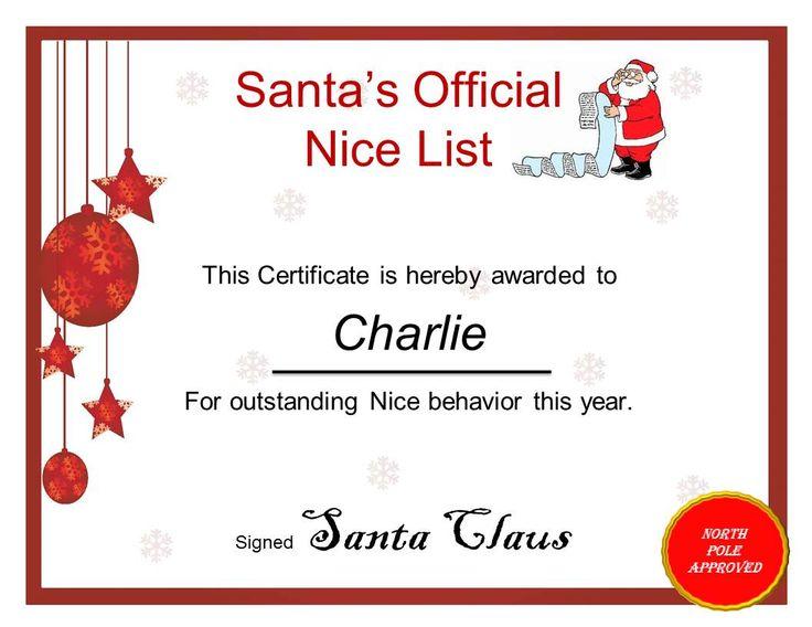 13 best christmas letter images on pinterest christmas for Nice list santa letter