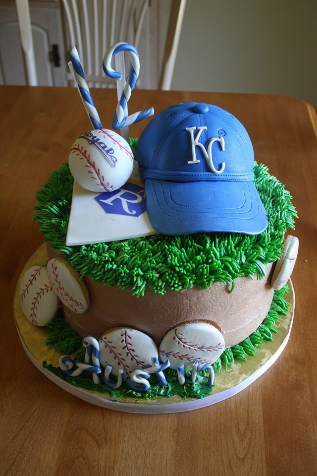 Sweet Bliss Cakery - KC Royals Baseball Cake