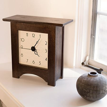 Show off your woodworking skills with this surprisingly simple mantel clock.
