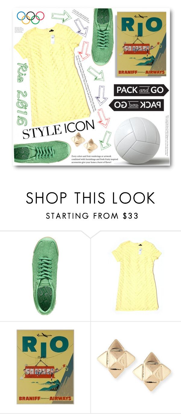 """""""See You In Rio"""" by alisijaa ❤ liked on Polyvore featuring Puma, Ann Taylor, Valentino and Opening Ceremony"""