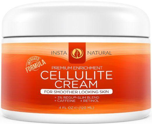InstaNatural Crema anticellulite con caffeina e retinolo - lozione rassodante, elimina la pelle a buccia d'arancia da gambe, braccia, pancia, glutei e altro - non necessita di essere avvolta - con olio di jojoba e vitamina E - 120 ML EURO 23,97