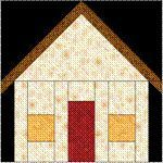 "Free House Quilt Patterns | -pieced quilt block pattern that will make a 6"" finished size quilt ..."