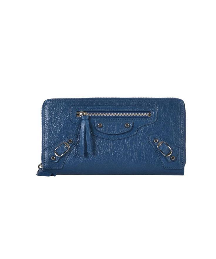 BALENCIAGA Balenciaga Women'S  Blue Leather Wallet'. #balenciaga #wallets