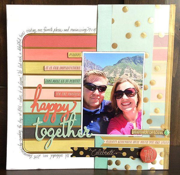Happy Together | Scrapbook Layout by Tamara Jensen