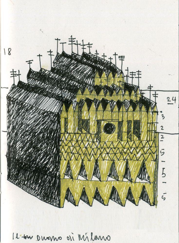 Beniamino Servino. Rilievo del Duomo di Milano. Metric survey of Milan Cathedral.