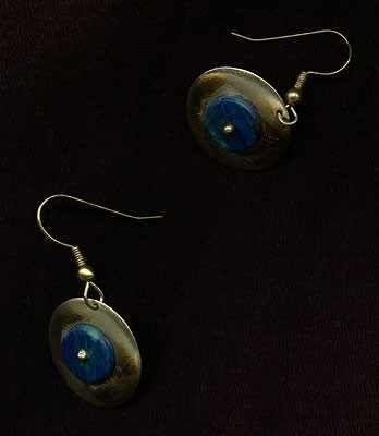 Oryginalna biżuteria kolczyki z mosiądzu nowego srebra Biżuteria artystyczna handmade