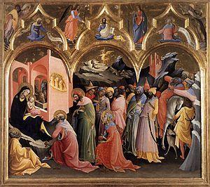 Don Lorenzo Monaco -L'Adorazione dei Magi è un dipinto di Lorenzo Monaco conservato agli Uffizi di Firenze. Si tratta di una tempera su tavola (115×183 cm), dipinta secondo lo stile gotico internazionale. È datata al 1420-1422.