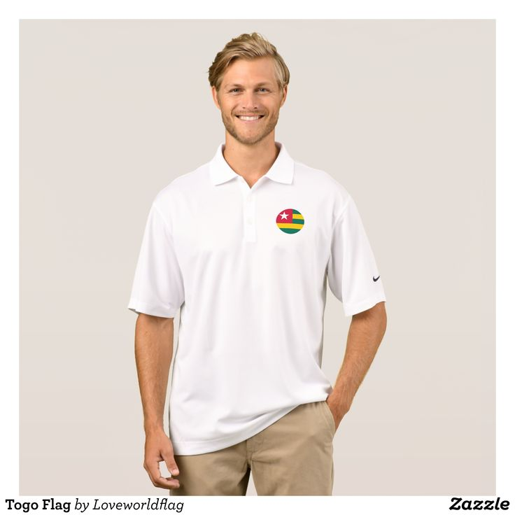 Togo Flag Polo Shirt - Cool And Comfortable Golfer Polo Shirts By Talented Fashion & Graphic Designers - #polo #gold #golfing #mensfashion #apparel #shopping #bargain #sale #outfit #stylish #cool #graphicdesign #trendy #fashion #design #fashiondesign #designer #fashiondesigner #style