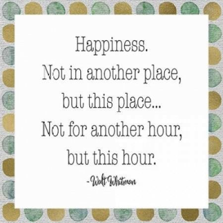 Happiness - Walt Whitman Canvas Art - Tara Moss (24 x 24)