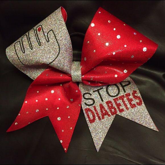 Accessories - Custom made Diabetes cheer bows