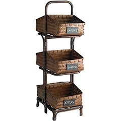 Triple Tier Basket With Chalkboard Labels   Great Looking And Great For  Storage In The Kitchen