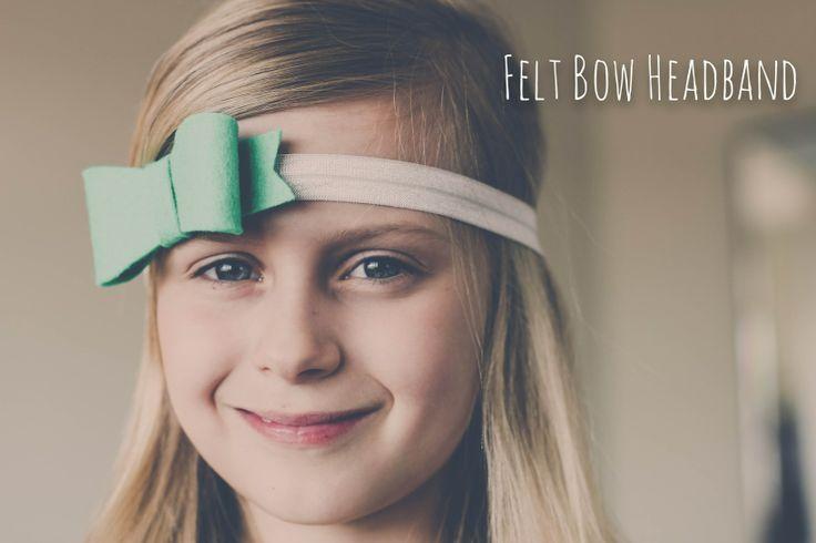 felt bow headband - the logbook