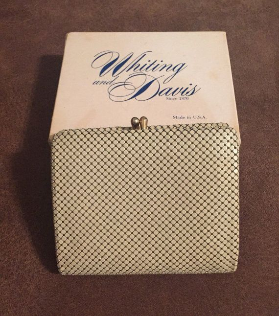 Vintage Whiting and Davis Metallic Ivory Wallet by BlingBaubles