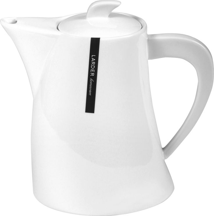 Hepburn Coffee Pot -   Make your morning pot of coffee or tea with our Hepburn Coffee Pot. With its subtle understated design, it's perfect for both casual and formal occasions. It comes in bright white and is made from high quality porcelain, which is durable, lightweight, dishwasher, microwave and oven safe.  larder.com.au