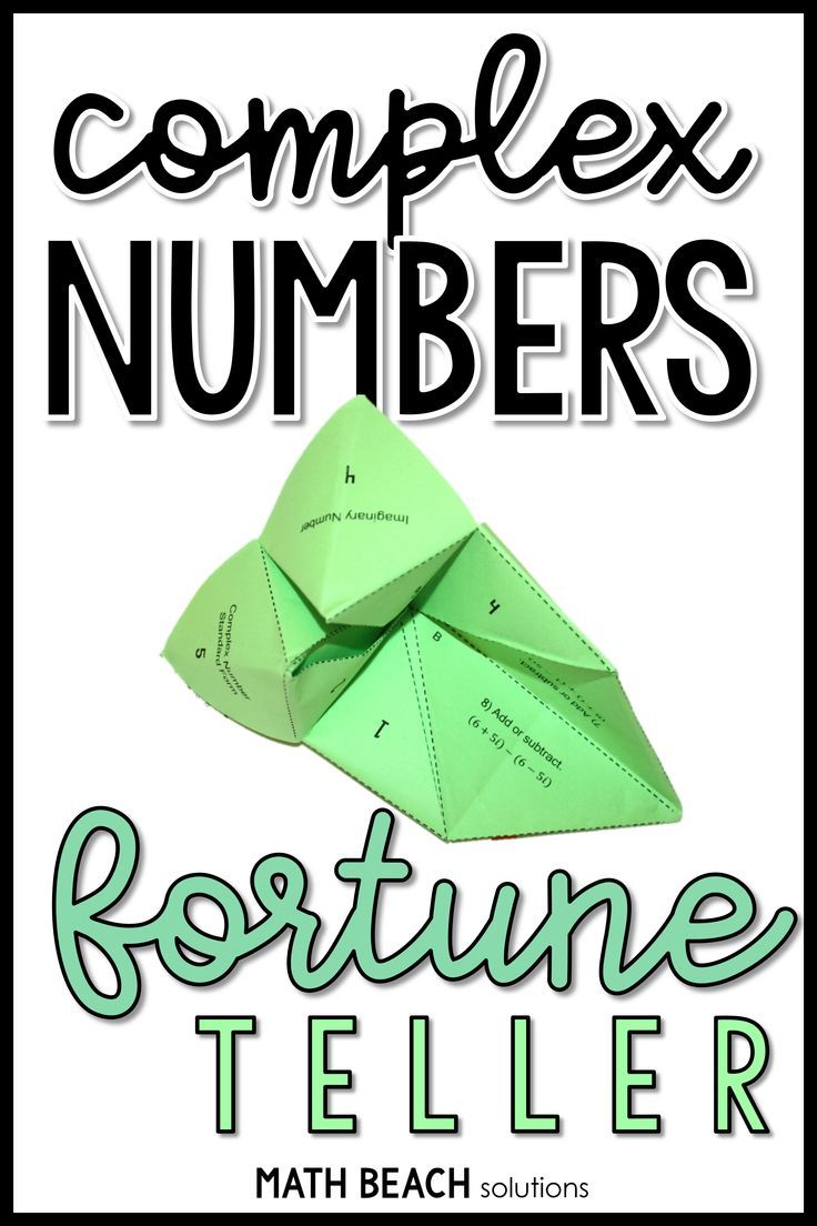 Complex Numbers Fortune Teller Activity Complex Numbers Simplifying Expressions Algebra Worksheets