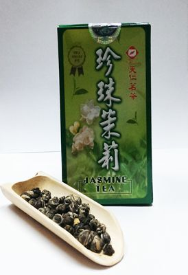 Ten Ren Pearl Jasmine Tea via innernewyork: Handrolled into pearl shaped balls, these leaves unroll to produce and exquisite refreshing tea with a longlasting floral aftertaste… #Tea #Green_Tea #Pearl_Jasmine