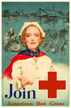 WWI American Red Cross Recruiting Poster for Nurses