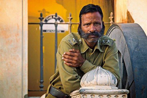 Guard, India, Travel, Portrait