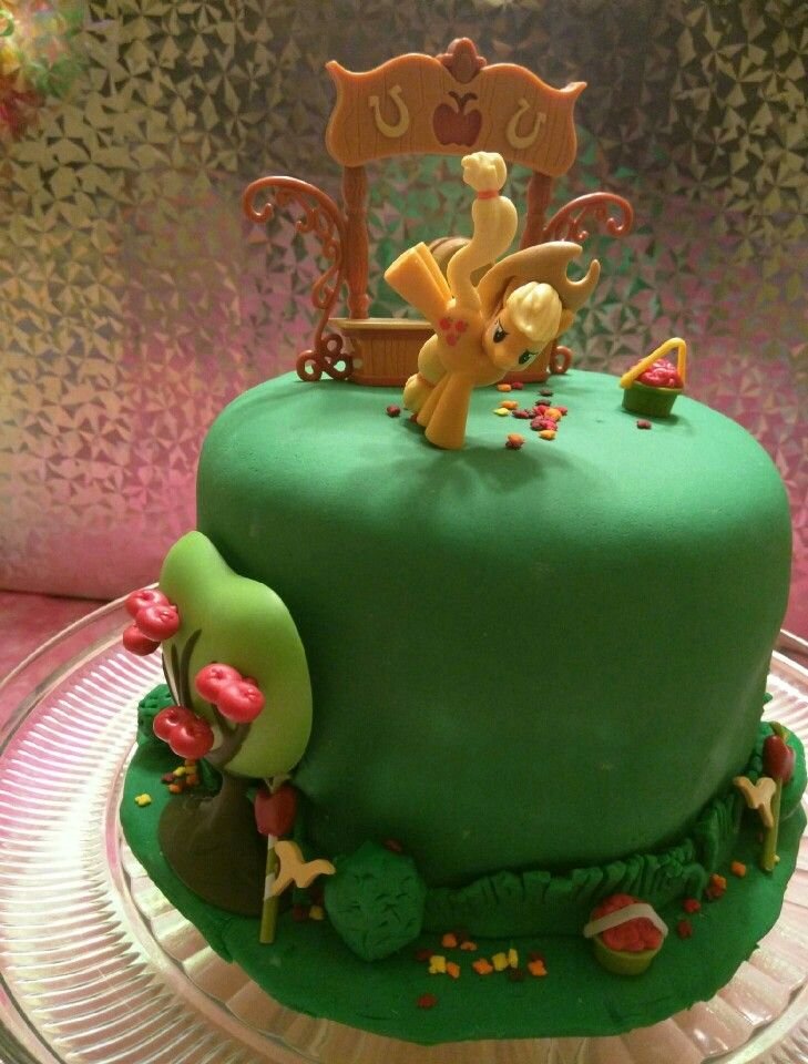 My Little Pony Apple Jack Cake Www Facebook Com
